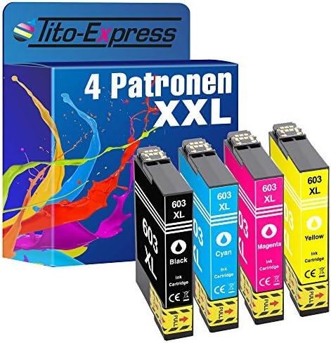 Tito Express Platinumserie 4 Patronen Als Ersatz Für Epson 603xl 603 Xl Kompatibel Mit Workforce Wf 2810 Dwf Wf 2830 Dwf Wf 2835 Dwf Wf 2850 Dwf Black 17ml Color Je 15ml Xxl Inhalt Bürobedarf