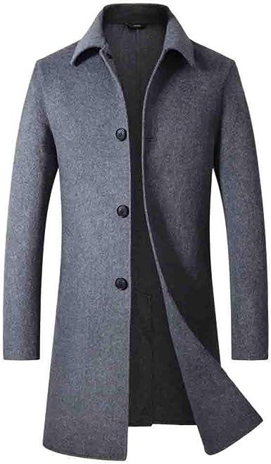 Storerine Manteau Homme Hiver Chaud Manteau à Double