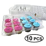 Katgely Dozen Cupcake Containers Pack of 10