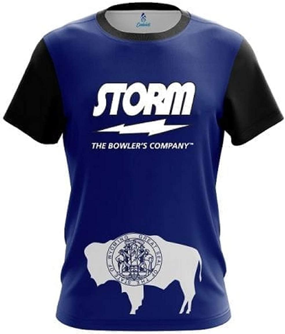 CoolWick Storm Wyoming Flag Bowling Jersey