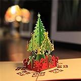 Ciamlir 3D Laser Cut Pop-up Greeting Card Christmas Tree