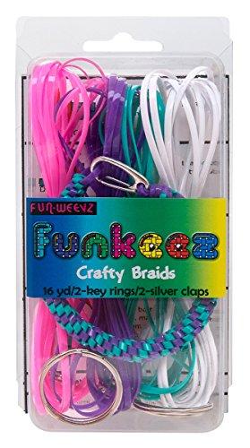 - Fun Weevz Funkeez Crafty Braid Kit with Twisted Purple Turquoise Bracelet