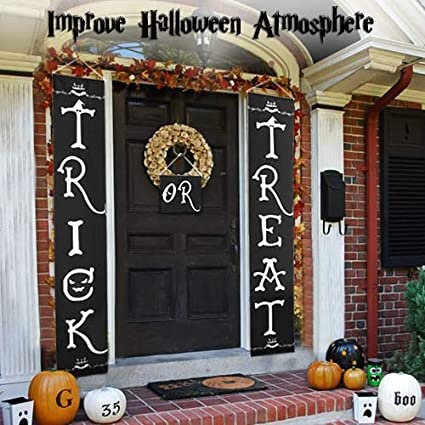 Amazon Com Halloween Outdoor Decoration Trick Or Treat Banner For