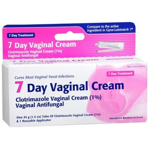 Clotrimazole Vaginal Cream USP, 1% , 7-Day Cream-45g