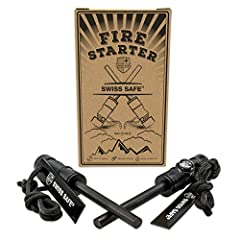 Get 2 Swiss Safe Fire Starters Per Package! Survival Fire Starters are easy to use whether you're hunting, hiking, camping, backpacking, or fishing. Perfect for survival, bushcraft, firecraft, and bugout bags. Here's why: PREMIUM CONSTRUCTION...