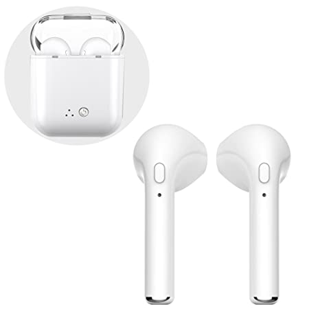 Auriculares Bluetooth, Auriculares Bluetooth Auriculares inalámbricos Bluetooth, Auriculares Gemelos Mini Twin con micrófono y