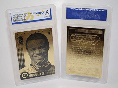 KEN GRIFFEY JR 2003 Laser Line Gold Card Limited Edition - Graded GEM MINT 10