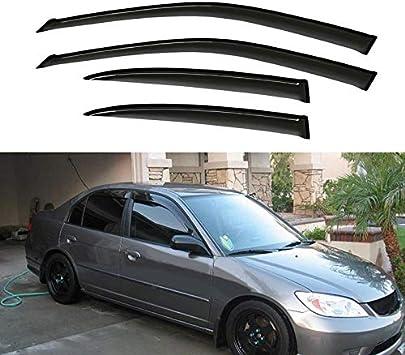 Window Visor Vent Shade Guard Honda Civic 4 Door Sedan 2001 2002 2003 2004 2005