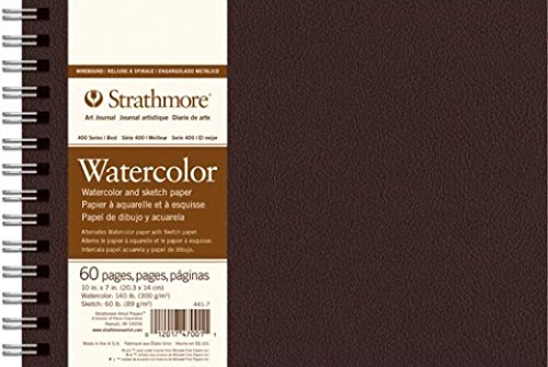 Strathmore (441-7 400 Series Wirebound Watercolor Art Journal, 10''x7'', 30 Sheets by Strathmore