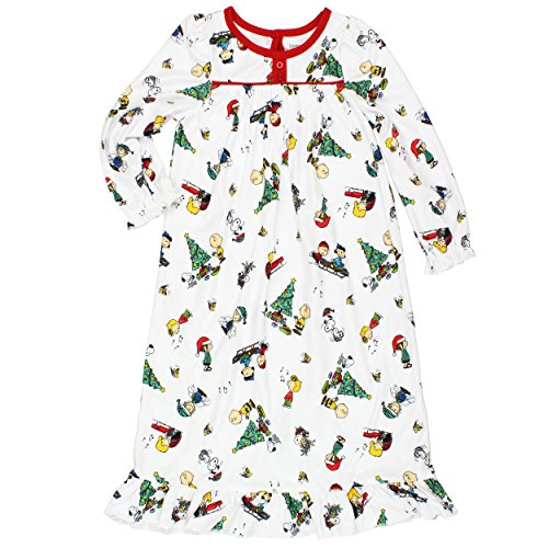 Peanuts Snoopy Little Girls Christmas Granny Gown Nightgown (2T, Christmas (Granny Night Gown)