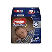 HUGGIES OverNites Diapers, Size 3, 92 ct, GIGA JR Overnight Diapers (Packaging May Vary)