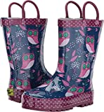 Western Chief Kids Baby Girl's Owl Dream Rain Boots (Toddler/Little Kid) Navy 1 Little Kid M
