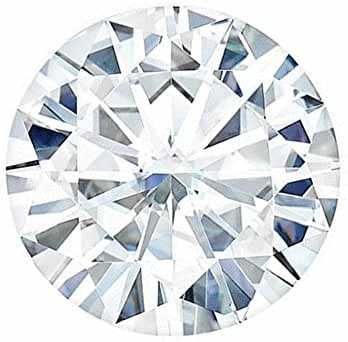 7.0 MM Round Brilliant Cut Forever One Loose Moissanite by Charles & Colvard - Very Good Cut (1.10ct Actual Weight, 1.20ct Diamond Equivalent Weight)