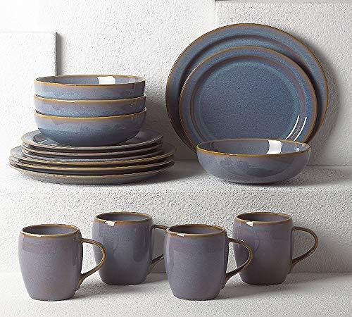 Dansk 16-Piece Glazed Dinnerware Set, Haldan
