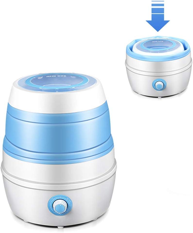 YICO Portatil Mini Lavadora Compacta Cubo Plegable y Secadora Centrifugadora Ligera para Viajes de Negocios, Viajes, Campamentos (2.6 Kg de Capacidad)