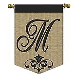 Cheap Magnolia 01835 Monogram M Burlap Garden Flag, 13″ x 18″