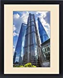Framed Print of Jin Mao Tower Three Skyscrapers Reflections Make Patterns and Designs Liujiashui