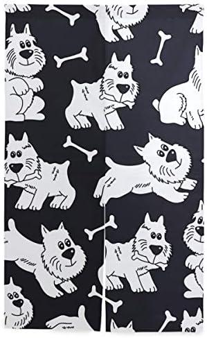 NIESIKKLA 間仕切りカーテン,シームレスな犬,断熱幅86cm×丈143cm キッチン居間耐久性 風水パーティション夏 冬