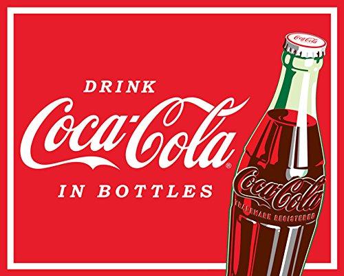Coca-Cola Drink Coca Cola in Bottles Soda Pop Red Fleece Fabric Panel p1495s
