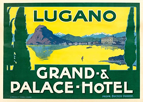 Lugano by Vintage Apple Collection Art Print, 20 x 14 inches