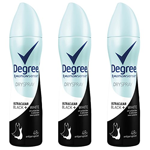Degree UltraClear Antiperspirant Deodorant Dry Spray, Black + White, 3.8 oz, 3 count (Deodorant Dry)