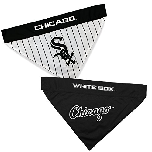 Pets First WSX-3217-S-M MLB Chicago White Sox Reversible Pet Bandana, Small/Medium, MLB Team Color