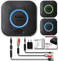 1Mii B06 Plus Bluetooth Receiver, HIFI Wireless Audio Adapter, Bluetooth 4.2 Receiver with 3D Surround aptX Low Latency...