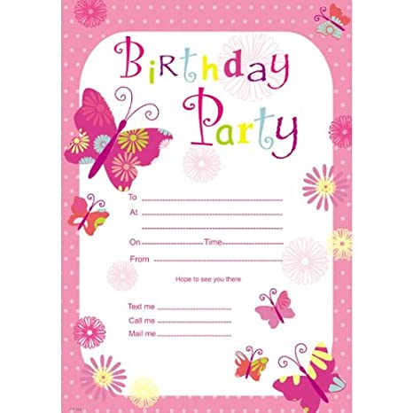 Birthday girl invitation pad 20 sheets amazon toys games filmwisefo Choice Image
