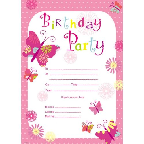 Birthday girl invitation pad 20 sheets amazon toys games filmwisefo Gallery