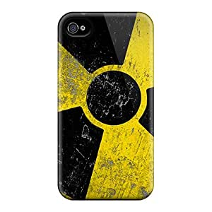 Rugged Skin Case Cover For Iphone 4/4s- Eco-friendly Packaging(biohazard)