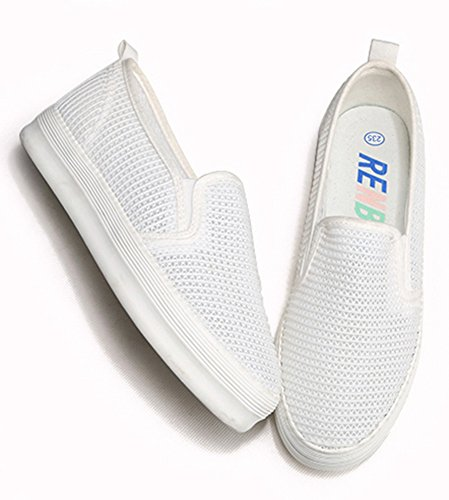 Womens Womens Out Aisun Breathable White Breathable White Aisun Aisun Mesh Mesh Sneakers Out Shoes Sneakers Hollow Hollow Shoes wxnA8Hq4