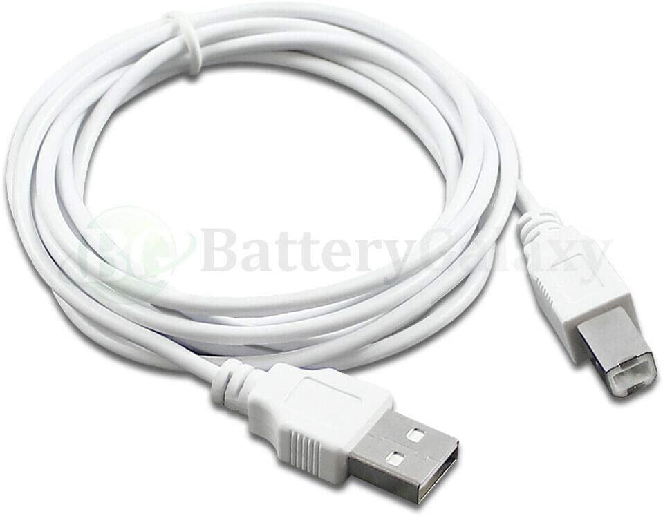 15 ft, 10 Lot 6 10 15 Compatible with HP Canon DELL Brother Printer Scanner Cable Cord USB 2.0 A-B