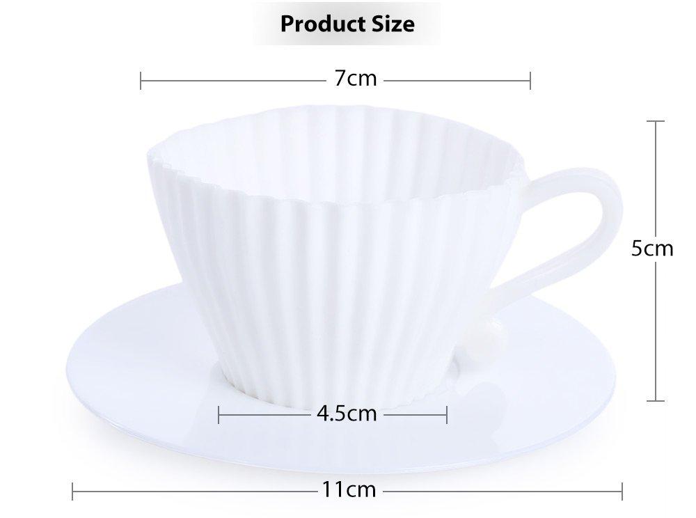 Bianco TrifyCore 4/PCS per del in silicone Che LE tazze di stampo con i piattini del t/è lievitazione della