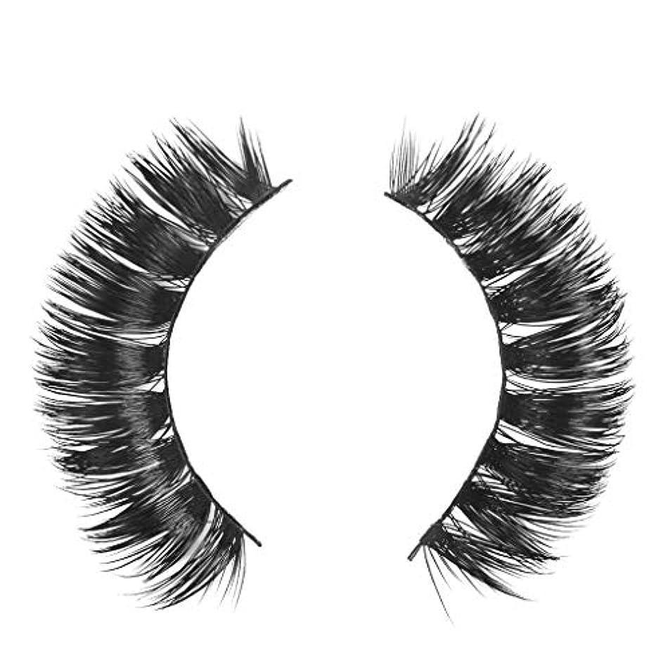 南方のミリメーターアリーナミンクの毛の自然な厚くなる化粧品の3D版のための一組のまつげ