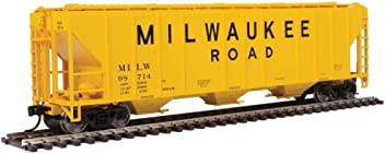 GRAY, RED, BLACK W//LOGO ON PLATE BURLINGTON /& QUINCY 85685 54 PULLMAN-STANDARD 4427 CD COVERED HOPPER CHICAGO READY TO RUN