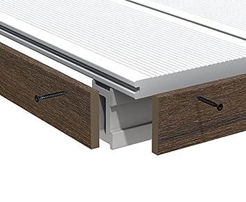 Fabulous Abschlussleiste braun für WPC Terrassendielen Platinum 200cm BX91