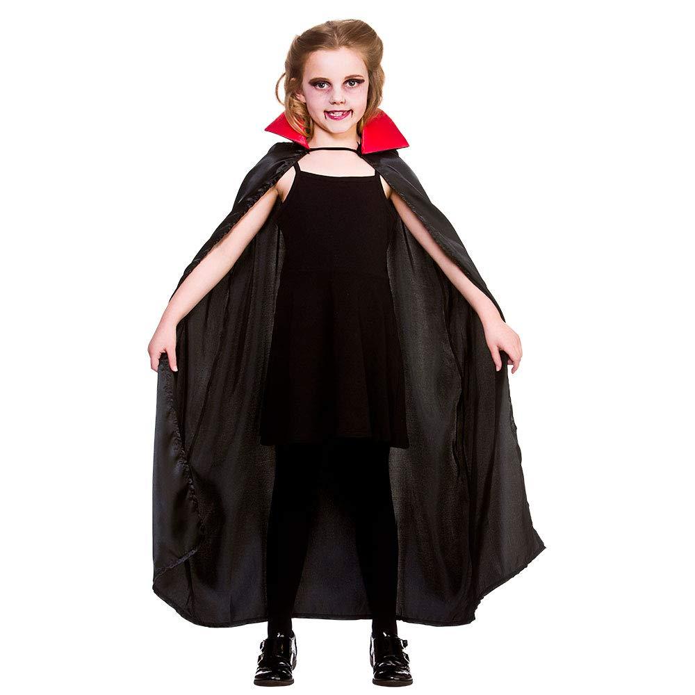 wicked Costumes Kids Unisexe Noir Rouge Deluxe Cape Vampire Taille Unique