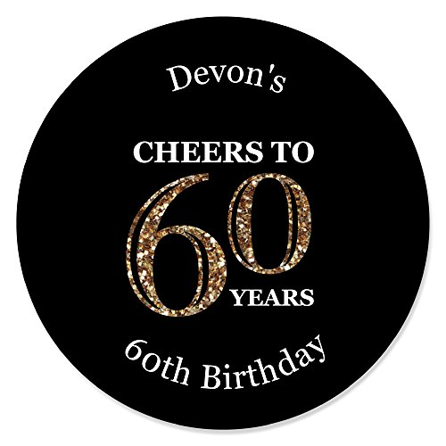60th birthday party favors candles