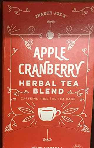Apple Cranberry Herbal Tea Blend 1.27 oz. 20 tea bags (Pack of 3 bxs.)
