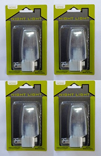 (Night Light with Glass Block Shade and On/Off Switch 4W Bulb (4)