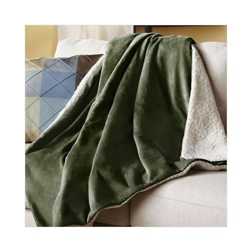Olive green throw blankets