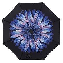 JLHua Travel Umbrella, UV protection Umbrella Foldable Rain&Sun Umbrella for Easy Carrying