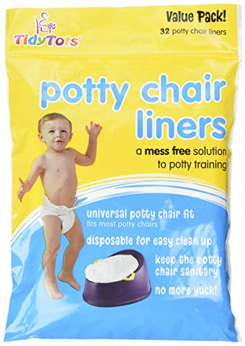 TidyTots Disposable Potty Chair Liners - Value Pack - Universal Potty Chair Fit (fits most potty chairs) - 32 Liners ()