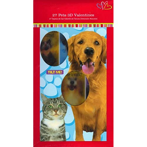 Mello Smello 16655 Pets 3-D Valentines (6 Designs, 27 Valentine Cards)(Certified Refurbished) Sales