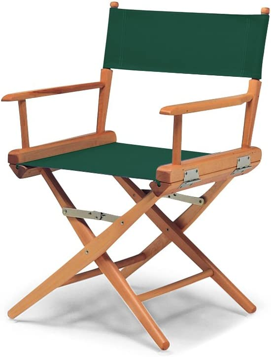 Telescope Casual 60322C01 World Famous Dining Height Director Chair, Forest Green with Varnish Frame