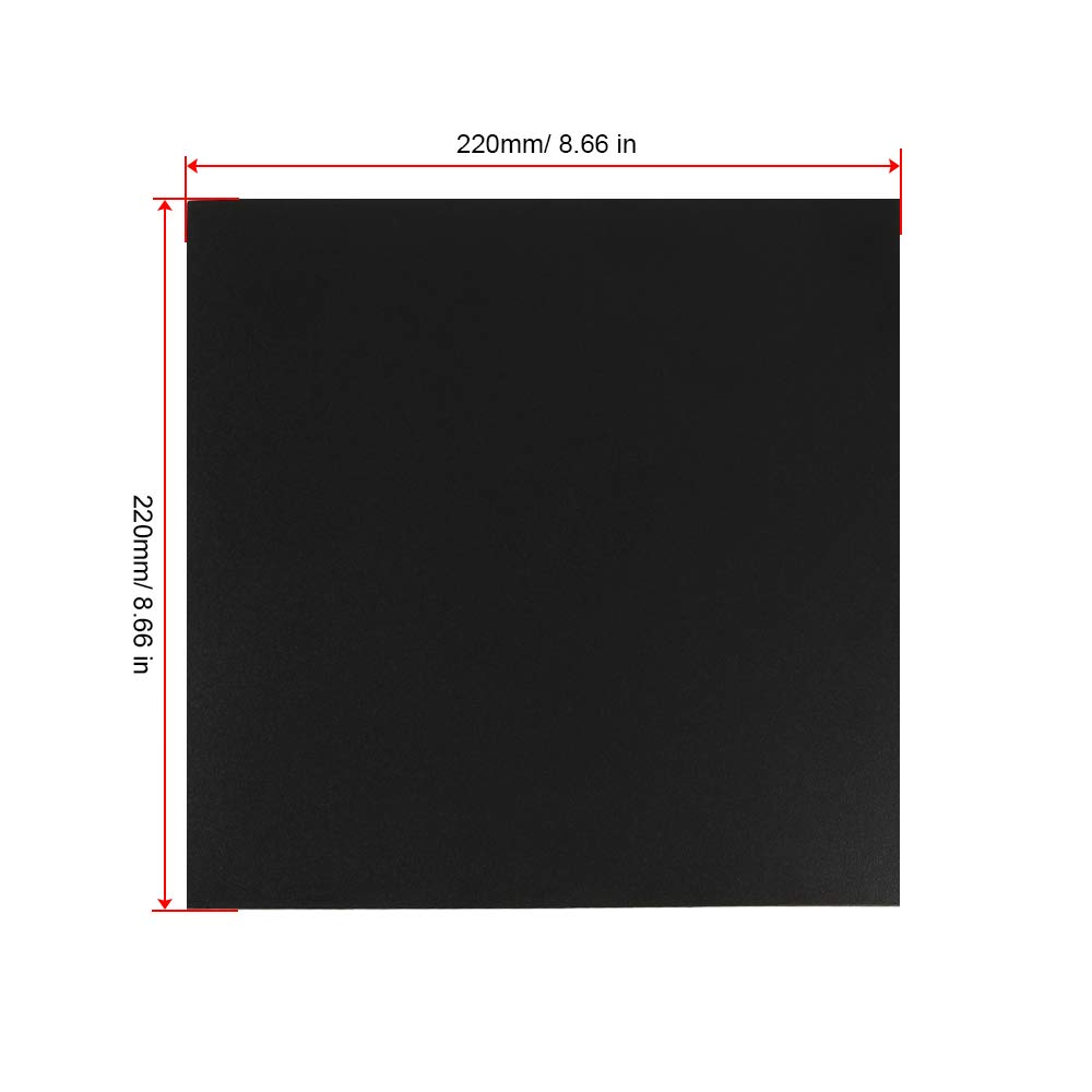 FYSETC 3D Printer Magnetic Build Surface A Platform 220X220 mm// 8.6X8.6 in Upgrade Flex Magnetic Hotbed Build Plate for Steel Spring Surface Sheet for Prusa i3 Anet A8 A6 Wanhao i3 Ender 3 Pro