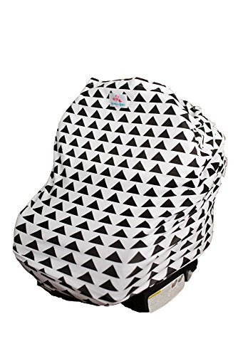 4-in-1 Baby Car Seat Cover - Versatile, Stretchy Fabric Canopy - Shopping Cart or Breastfeeding Cover Up - Soft, Breathable Swaddle Blanket for Infants, Newborns, Toddlers (Carrier Car Seat Cover compare prices)