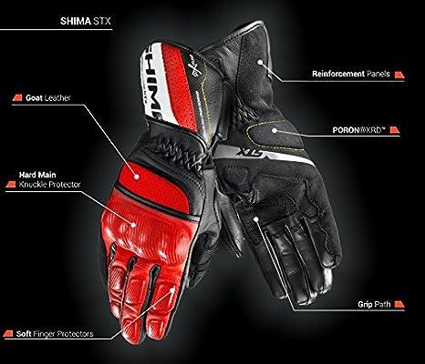 Taglia: L Estivi Protettivo In Pelle Sportiva Retro Custom Guanti Da Moto Shima STX S-XXL Fluo