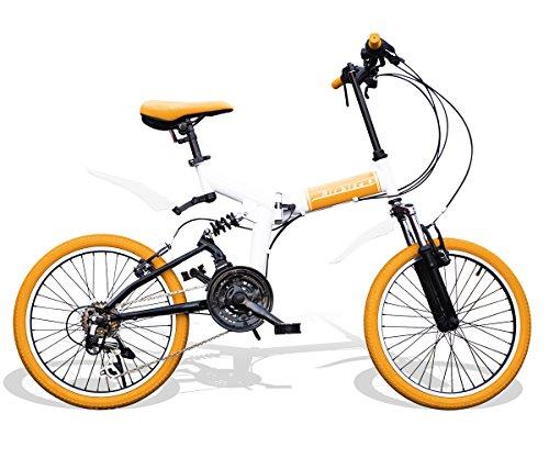 [해외] Airbike 접이식 자전거 미니베로 20인치 서스펜션 부착 시마노21 단변속