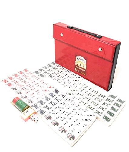 THY COLLECTIBLES Mahjong Tiles Poker Rummy Game Set 120 White Poker Tiles by THY COLLECTIBLES